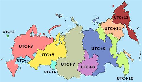 Wie Viele Zeitzonen Hat Russland